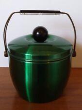 Vintage Retro Green Anodised Novo Ice Bucket with Handle