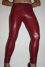 Lederhose Leder Leggings Kunstleder Hose Lederlook Rot Red Gr. S / M, low waist
