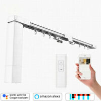 DIY Smart Curtain Motor, Electric Curtain Track, Free Timer & Wall Brackets