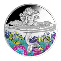 2021 Niue $2 Mermaid 1 oz .999 Silver Proof Coin - 500 Made - Mint of Poland
