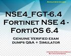 NSE4_FGT-6.4 Fortinet NSE 4 - FortiOS 6.4 practice questions answers + simulator