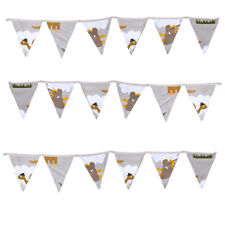Jurassic Fabric Bunting Children's Room Décor Flags Decoration Kids Boys Girls