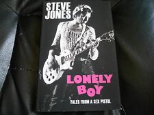 STEVE JONES SIGNED - LONELY BOY - SEX PISTOLS - Limited First Hardcover Edition