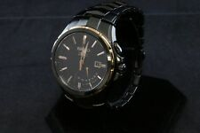SEIKO Coutura Kinetic Black Dial Black Ion-plated Men's Watch SRN066