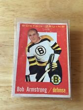 Topps hockey 1959-60 Bob Armstrong Boston Bruins card # 39