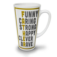 Father Collage NEW White Tea Coffee Latte Mug 12 17 oz | Wellcoda