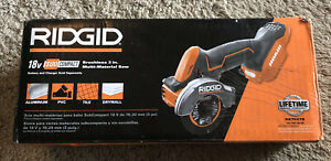 RIDGID R87547B 18V SubCompact Brushless 3 in. Multi-Material Saw NEW (Tool only)