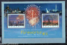 "Austria - Hong Kong JOINT Issue - ""FIREWORKS"" Swarovski Crystal MS !"