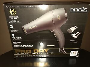ANDIS PRO DRY Professional Styling Hair Dryer in Black