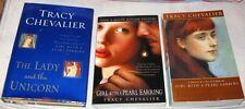 3 by Tracy Chevalier Virgin Blue,Girl w/ Pearl Earring,Lady & Unicorn