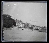 Francia Trouville c1900 Foto Negativo Placca Da Lente Vintage