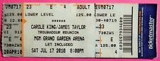 CAROLE KING -JAMES TAYLOR ORIG CONCERT USED TICKET MGM LAS VEGAS JULY 17 2010