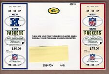 RARE 1999 PHANTOM Green Bay Packers PLAYOFF and NFC CHAMPIONSHIP GAME tickets !!