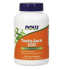 NOW TestoJack 200   Dietary Supplement - 120 Veg Capsules