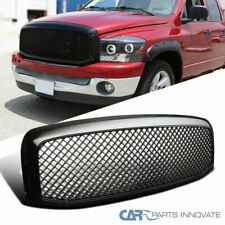 06-08 Dodge Ram 1500 2500 3500 Pickup Glossy Black Mesh Style Front Hood Grille