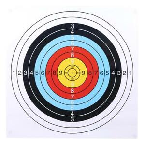 Outdoor Archery Targets Paper Face Arrow Bow Shooting / Hunting Practice KY