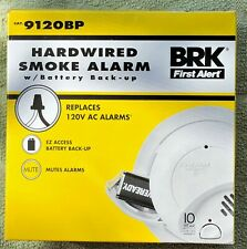 BRK HARD WIRED FIRST ALERT FIRE ALARM MODEL 9120BP