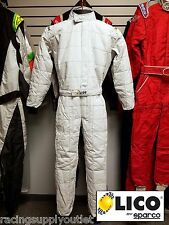 Sparco/Lico  Go Kart Racing Suit FIA  Silver 2 Layer  Size 3XL  [In the USA]