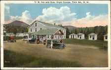 Twin Mountain NH YD Inn & Gas Station c1920 Postcard rpx