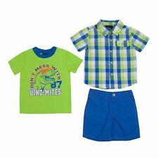 BOYS ROCK® 4T Toddler Boys' 3 Pc. Dinosaur Top & Shorts Set *NWT*