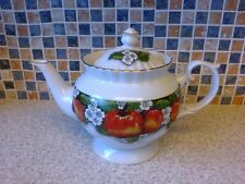 CHODZIEZ PORCELAIN TEAPOT APPLES & APPLE BLOSSOM DESIGN