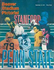 1974 Penn State vs Stanford original college football program