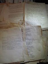 IMPORTANT DOSSIER Autographe ACTEUR GEORGES LYCAN Années 40-50 THEATRE POEMES