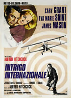 North by northwest Cary Grant vintage movie poster #25