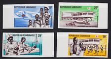 Gabon Sc C86-C89v MNH. 1969 Red Cross Imperf Margin XF