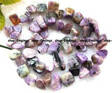 "10x11mm Natural Purple seraphinte flat  Baroque gemstone  Beads 16"" high quality"