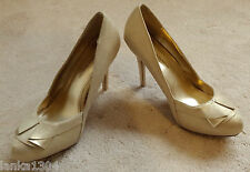 Dorothy Perkins Gold Stilleto High Heel Party Court Shoes (NEW) size 7-£35.00