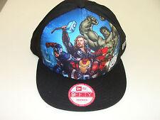New Era Cap Hat Avengers Shield Collage Snapback Adjustable Iron Man Thor OSFM