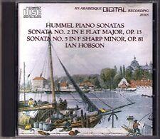 Ian HOBSON: HUMMEL Piano Sonata No.2 & 5 Arabesque CD 1989 Klaviersonaten