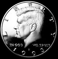 1993 S  Kennedy Mint Silver Proof Half Dollar from Original U.S. Mint Proof Set