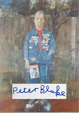 PETER BLAKE Signed 12x8 Photo Display POP ART Self Portrait COA