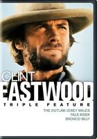 The Outlaw Josey Wales / Pale Rider / Bronco Billy (DVD,2016)