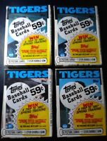 4 Topps Unopened Packs 1986 Detroit Tigers Baseball Cards - Free Shipping
