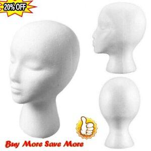 Polystyrene Unisex Foam Mannequin Head Display Model Dummy Female Wigs Stand new