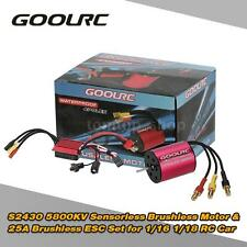 NEW GoolRC S2430 5800KV Brushless Motor and 25A ESC for 1/16 1/18 RC Car D5C9