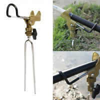 Stainless Steel Fishing Pole Rod Bracket Holder Adjustable Handle Support Stand