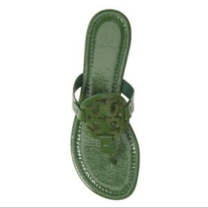 NIB Tory Burch Miller Flip Flop Sandals Shoes ARUGULA GREEN 11 M