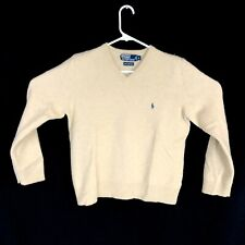 Boys Polo Ralph Lauren 100% Lambs Wool V Neck Style Sweater Large