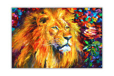 AT54378D Lion By Leonid Afremov Oil Painting Re-print Poster Wall Art Pictures