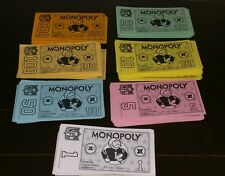 Monopoly NFL Football Replacement Money Official Collector's Edition Game