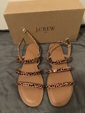 New in Box J.Crew tortoise ankle strappy sandals, sz 9