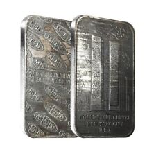 1 oz MTB World Trade Center Silver Vintage Bar .999 Fine