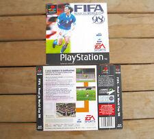 FIFA - Road to World Cup 98 (1997) PLAYSTATION 1 COVER ORIGINALE, NO DISCO #