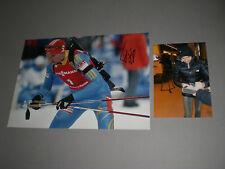 Olena Pidhrushna Ukraine Biathlon signiert signed Autogramm auf 20x28 Foto in p.