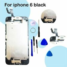 For Black iPhone 6G LCD Display Screen Digitizer Completed Home button + Camera