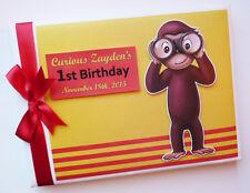 Personalised monkey birthday guest book, monkey birthday album
